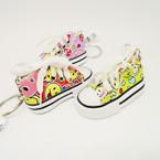 "3"" Yellow Emoji  w/ Hearts  Sneaker Keychain .54 ea"