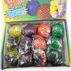 "2.5"" Asst Color Mesh Squish Balls 12 per display bx .56 each"
