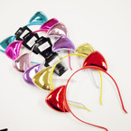 Popular Wrapped Headbands w/ Metallic Cat Ears .54 each