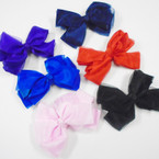 "5"" Organiza & Satin Asst Color Gator Clip Bows .42 each"