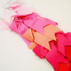 "6"" X 8"" Cheerleader Tail Bows on Gator Clip Colors as shown  .54 ea"