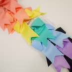 "6"" X 8"" Cheerleader Tail Bows on Gator Clip Lite Colors  .54 ea"