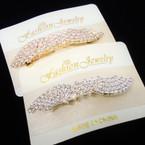"""3.25"""" Gold & Silver Rhinestone Fashion Barrette .56 each"""