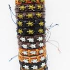 Teen Leather Bracelet w/ Gold & Silver Turtles  .54 each