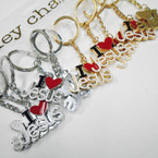 Gold & Silver I Love JESUS Metal Keychains .54 each