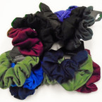 3 Pack School/Winter Color Cotton Hair Twisters .50 per set of 3
