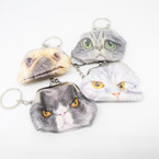 "2.5"" Cat & Dog Snap Coin Purse w/ Keychain .52 each"