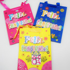 "7"" X 9"" Hi Quality Happy Birthday Gift Bags w/ Raised Letters Spanish .54 each"
