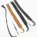 Leather Braid Headband w/ Elastic Back Mixed Colors as shown .54 each