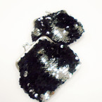 "4"" Black  Sequin Mermaid Change Color Snap Coin Purses .54 each"