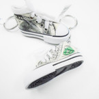 """3"""" $ 100 Bill Print  Sneaker Keychain  .54 ea"""