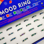 Mood Color Changing Band Rings w/ Design  24 per bx ONLY .30 each