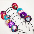 Mix Color Sequin Mermaid  Change Color Mouse Ear Headbands  .54 each