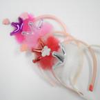 Kid's Lace Headband w/ Metallic Crown Ears & Glitter Butterfly  .54 each