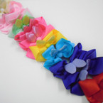 "5"" Asst Color Gator Clip Bows w/ Metallic Cat Ears .54 each"