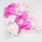 "4 Pack 2.75"" Pink Ribbon Gator Clip Bows 12-4 pks for $ 6.50"