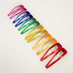 "2.5"" Olympic Bright Color Glitter Snap Clips 12 per card 12 cards per bag .54 EA"