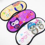 Owl Theme Sleeping Masks Mixed Prints  .54 each