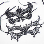 Black Fashionable Lace Masks 2 Styles .54 each