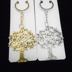"2.5"" Cast Metal Tree of Life Keychains w/ Crystal Stones .56 each"