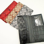 "4"" X 7"" ""C"" Print Fashion Ladies Wallets .56 each"