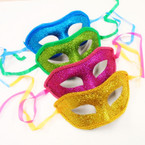 Mixed Color Glitter Party Masks w/ Lace Edge .54 each