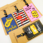 "4"" Mixed Style Luggage Tags w/ ID Card .54 each"