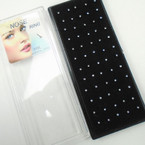 All Clear Crytsal Silver Nose Stud 40 pc Bx .15 ea