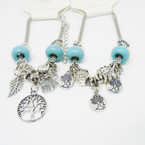 Pandora Style Silver Bracelets w/ Mixed & Tree of Life  Charms .56 each