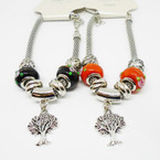 Pandora Style Silver Bracelets w/ Mixed & Tree of Life & Colored Beads .56 each