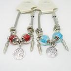 Pandora Style Silver Bracelets w/ Leaf, Tree of Life Charm .56 each
