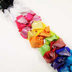 9 Mixed Color 2 Layer Metallic Gator Clip Bows . 54 each