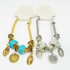 Pandora Style Bracelet Gold/Silver w/ San Benito Charms  .56 each