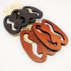 "3"" Wood Fashion  Earrings Mixed Natural Tones  .54 each"
