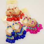 Colorful Beaded Dangle Fashion Earrings .54 each