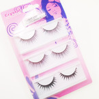 3 Pair Fashion Eyelashes w/ Glue  12-3 pks per bag (926) .54 per set