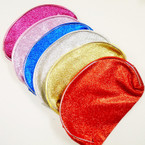 "Big 5"" X 8"" Glitter Fabric All Purpose Zipper Bags .56 each"