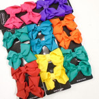 "4 Pack 3"" Bright Mix Color Gator Clip Bows .54 each set"