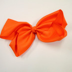 "8"" Jumbo Gator Clip Bow All Orange  .55 each"
