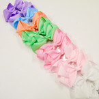 "6"" Large Gro Grain Bow on Gator Clip Asst Color Pastels .54 ea"