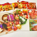 Beautiful Matt Feel X-Large Christmas Gift Bags  12 per pk .57 each