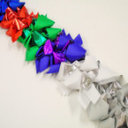 "5"" Layered Mixed Color Gator Clip Bows w/ Metallic   as shown .54 each"