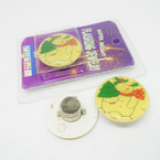 """CLOSEOUT 1.25"""" Flashing Snowman Magnetic Pin 100 pc bx .06 each NEEDS BATTERIES"""