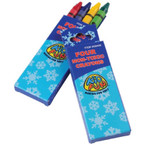 4 Pack Holiday Print Box Crayon Packs  12-4 pks .12 ea pk