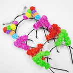 Popular Cat Ears Headbands w/ Fimo Flowers  .54 each