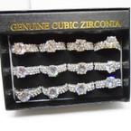 Brilliant CZ & Crystal Stone Fashion Rings .54 each