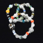 Multi Style Beaded Stretch Bracelets Mixed Styles .54 each