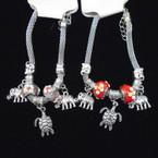 Pandora Style Bracelet Silver w/ Elephant & Turtle Charm  .56 each