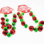 Handmade Red & Green Jingle Bell Charm Holiday Bracelets .54 each