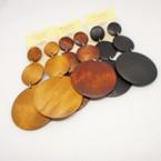 3 Part 3 Color  Wood Dangle Earrings .54 per pair